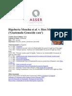 20-05-13 Rigoberta Menchu Et Al. v. Rios Montt Et Al. ('Guatemala Genocide Case')