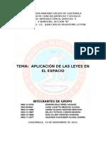 APLICACIÓN DE LAS LEYES EN E ESPACIO