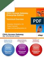 Citrix Access Gateway 7-0 Enterprise Edition - Technical Presentation Englisch