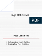 4.1 Page Definitions