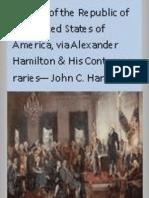 History of the Republic of the United States of America VOL 1 - John C Hamilton (1857)