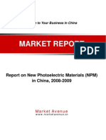 Report on New Photoelectric Materials (NPM)
