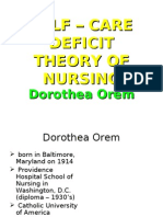 dorothea orem theory ppt
