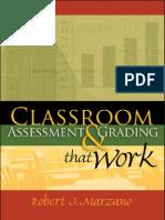 Classroom Assessment MARZANO