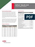 BT Ácido glicólico e Glypure - Atributos téncnicos