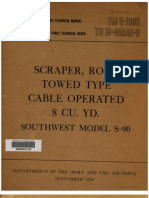 Tm 5-1095 Scraper, Road Towed Type, Cable Operated, Southwest S-90