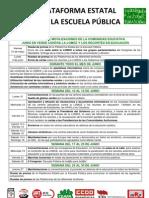Calendario de Movilizaciones Plataforma Estatal Por La Escuela Publica