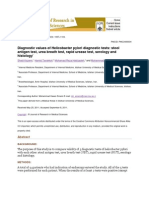diagnosis helicobacter pylori