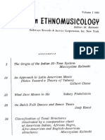 Studies in Ethnomusicology