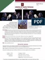 Volantino Teatro Scienza II Modulo - 1liv
