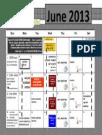 June 2013 Calendar Version 1.2