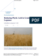 How to Reduce Phytic Acid in Grains and Legumes