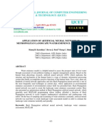 Application of Artificial Neural Network in Metropolitan Landscape