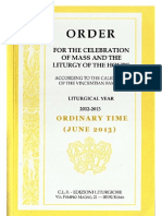 ORDO 2012/2013 - Order for Celebrations in June