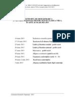 CALENDARUL Evaluarii Nationale 2013