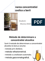 Determinarea Concentratiei Alcoolice a Berii Prin Distilare