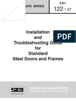 SDI_122 - Standard Steel Doors and Frames