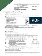 model test evaluare nationala matematica