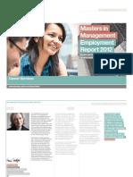 London Business School MiM Employment Report 2012