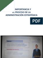 LA IMPORTANCIA Y EL PROCESO DE LA ADMINISTRACI+ôN ESTRATEGICA -UNITEC