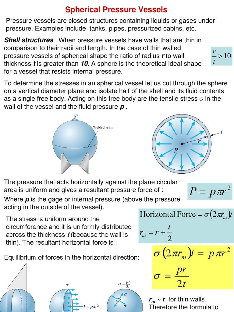 PRESSURE VESSEL | Yield (Engineering) | Stress (Mechanics)