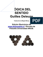 Gilles Deleuze Lógica del sentido