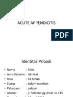 Appendicitis