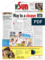 thesun 2009-04-21 page01 way to a cleaner rtd