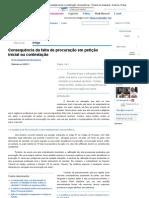 Falta de procuração em petição inicial ou contestação_ consequências - Revista Jus Navigandi - Doutrina e Peças