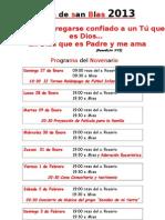 Programa - Fiesta s Blas 2013