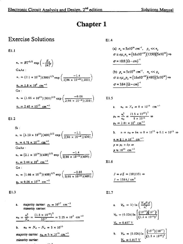 neamen solution manual to electronic circuit analysis and design rh scribd com Milliman HCG Grouper Milliman Inc
