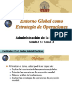 Entorno Global como Estrategia de Operaciones