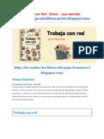 Trabaja Con Red eBook Autor Juan Merodio