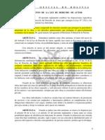 Ley de Derecho de Autor - Reglamento (DS23907)