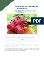 Propiedades y Beneficios de La Remolacha