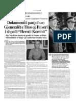 Dy gjeneral jugosllav Heroja te Shqiptarve !!