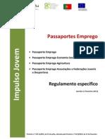 Medidas Passaportes Emprego - Regulamento Portaria 65B-2013