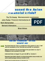 what caused the Asian Financial crisis