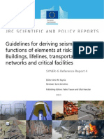 Guidelines for Deriving Seismic Fragility Functions of Elements at Risk