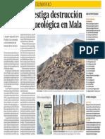 Destruyen Patrimonio Cultural en Mala
