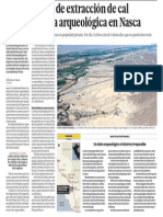 Empresa de Extraccion Cal Destruye Patrimonio Nazca