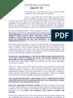COURS DE SAGESSE N° 42.doc