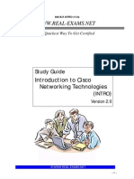Intro to Networking REAL-EXAMS 640-821 Study Guide V2.0