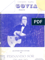 Fernando Sor 20 Estudios Guitarra - Andres Segovia