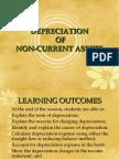 Depreciation of Non-current Assets