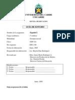 Guía Español I