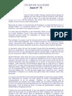 COURS DE SAGESSE N° 73.doc