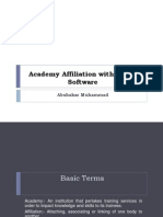 Academy Affiliation With Gwani Software