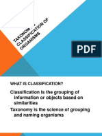 Classification and Taxonomy