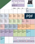 30 Day Plank Challenge June Beginner